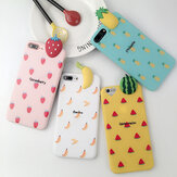 Fashion 3D Cartoon Fruit Pattern Shockproof Soft Silicone Protective Case Back Cover for iPhone X / 6 / 6 Plus / 7 / 7 Plus