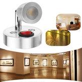 12 V 3 W İç LED Nokta Okuma Lamba Caravan için Başucu Duvar Dolap Dolap Işık Anahtarı ile