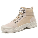 Original              Men High Top Outdoor Work Style Slip Resistant Canvas Boots
