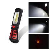 USB Rechargeable LED COB Camping Light Emergency Flashlight with Magnetic Base for Outdoor Home Auto