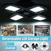40W E27 LED Garage Light Bulb Deformable Ceiling Fixture Lights Shop Workshop Lamp 85-265V