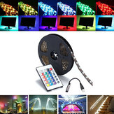 0.5/1/2/3/4/5M SMD5050 RGB Waterproof LED Strip Light TV Backlilghting Kit + USB Remote Control DC5V