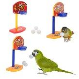 3pcs oiseaux de compagnie Chew perruche jouets boules de cloche perroquet birdie panier de basket prop