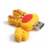 Noel Geyik USB2.0 Flash Sürücü Pendrive Karikatür USB Disk Noel Hediyesi 16G 32G 64G 128G