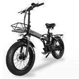 [EU Direct] CMACEWHEEL GW20 48v 15Ah 750W 20in Sepeda Listrik Lipat 30-45km / jam Kecepatan 80-100KM Jarak Tempuh Rem Cakram E Sepeda