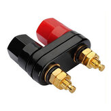 Bornes de couple Red Black Connector Amplifier Reliure Post Banana Speaker Plug Jack