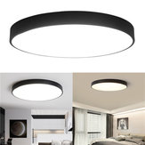 12W 18W 24W 5CM quente / frio branco LED Tecto de luz Black Mount Fixture for Home Bedroom Living Room