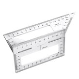 45/90 Grad Edelstahl Holzbearbeitung Schreiber T-förmiges Lineal Multifunktionales Vierkantwinkel Lineal Winkelmaß