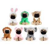 New Soft Cuddly Dog Toy in Fancy Dress Super Cute Quality Stuffed Plush Toy Kids Gift