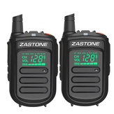 2 Stks Zastone mini9 Walkie Talkie UHF 400-470 Mhz Twee Manier Radio FM Transceiver Communicator Radio