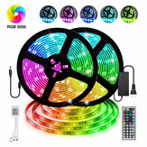 12V LED Light Strip 5M / 10M / 15M 16.4ft / 32.8ft / 49.2ft 5050 RGB LED Tape Lights RGB Rope Lights 16 Milions Warna Fleksibel Mengubah LED Strip Lights dengan Remote untuk TV Bedroom Party Home Lighting Kitchen Bar