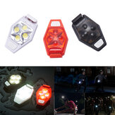 XANES TL04 4 LED IPX4 3 tilstande Outdoor Night Running Bike Warning Light