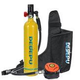 DEDEPU Scuba Diving Set 1L Diving Tank With Breathing Valve+Storage Bag Underwater Mini Scuba Tank Accessories