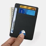 Porte-cartes en cuir véritable pour femmes et hommes Motif en fibre de carbone RFID Portefeuille à fente pour cartes multiples