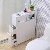 أرفف التخزين الجانبية المرحاض ضد للماء رفوف منظم الحمام مع عجلات