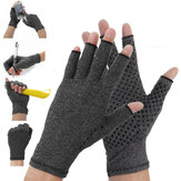 1 Para antyreumatitis Rękawiczki Łatwość Pain Relief Rękawiczki kompresyjne Hand Support Outdoor Fitness Half Finger Gloves