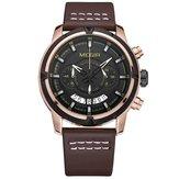 MEGIR 2047 Masculino Multifuncional Cronógrafo Luminoso Moda Casual Men Quartz Watch
