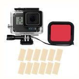 Sheingka Etui de protection extérieur étanche avec filtre pour caméra d'action GOPRO HERO 5/6/7