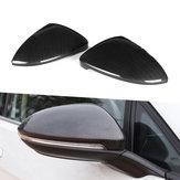 Coperchio di ricambio per specchietti laterali per auto di ricambio per la retrovisione di colore in fibra di carbonio ABS Adatto per VW Golf MK7 MK7.5 GTI R