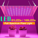 AC85-265V 25W 45W Full Spectrum UV + IR LED Plant Grow Light Veg Lamp For Indoor Hydroponic Flower with Power Adapter