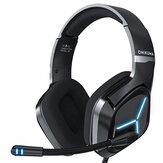 ONIKUMA X9 Gaming Headset Gamer Hoofdtelefoon Surround Sound Stereo Bedrade Koptelefoon USB Microfoon Blauw Licht voor PC Laptop