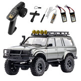 Eachine Rochobby  1/18 RC Car 2.4G Land Cruiser 80 For TOYOTA With Two Batteries Partly Waterproof RC Crawler Off Road RC Vehicle Models RTR Remote Control Car