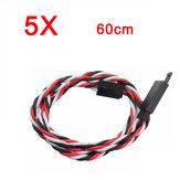 5X Amass 60 Core 60cm Anti-Off Servo Extension Wire Cable Pour Futaba