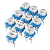 130Pcs Trimming Potentiometer Adjustment 100ohm-1Mohm RM065 Variable Resistors Assortment Kit