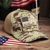 Γυναικεία καμουφλάζ Στρατιωτικό στυλ εκτύπωσης Αμερική Σημαία Hallow Out αναπνεύσιμο δροσερό καπέλο μπέιζμπολ