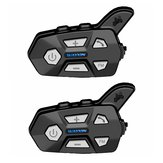 2 PZ WAYXIN 1000 M Cuffie Auricolari bluetooth 2 Riders Citofono Per R5 Moto FM Bt Intercomunicador Interphone Intercom Mp3