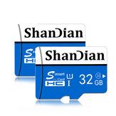 Shandian memóriakártya 8/16/32/64/128 GB 10-es osztályú nagysebességű TF / SD memóriakártya iPhone 12-hez Samsung Galaxy S21 okostelefon táblagép kapcsoló hangszóró drón autó DVR GPS kamera