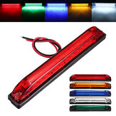 12LED Side Marker Light Tail Signal Lamp White/Green/Yellow/Red/ Blue 12V-24V for Trailer Truck Ute Boat Caravan