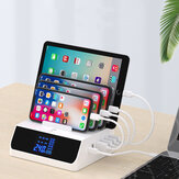 Bakeey 100W 6-Port USB PD Charger 45W USB-C PD3.0 Power Delivery QC3.0 Quick Charge Digital Display Desktop Charging Station Hub For iPhone 11 SE 2020 For Samsung Galaxy Note 20 Ultra S20 Tab S7 For iPad Pro 2020 Laptop MacBook Air 2020