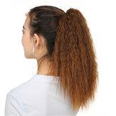 35cm 5 Warna Ekstensi Gadis Jagung Bergelombang Berbulu Ponytail Wig