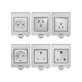 SONOFF® S55 à prova d'água WIFI Smart Tomada Switch UK / AU / US / FR / DE / ZA Multiple Version Wifi Tomada Funciona com Alexa Google Home