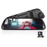 JUNSUN A9602 1080P 4G 3G 2G WiFi bluetooth Android 8.1 ADAS Авто Видеорегистратор с видом сзади камера