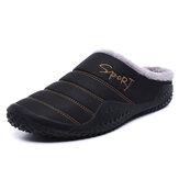 Men Daily Soft Inicio cálido forro de felpa zapatillas