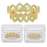 Hollow Diamond Gold Plated Teeth Caps Canine Toothbrush