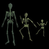 32/90/150CM Halloween Luminous Skeleton 360° Rotatable Joint with Light Effect Toy for Halloween Horror Props House Decoration