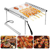 Outdoor Draagbare Vouwen Rvs Barbecue Grill Camping Picknick BBQ Rack