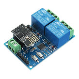 12V ESP8266 Dual WiFi Relay Module Internet Of Things Smart Home Mobiele APP Remote Switch