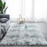 Tapete de lã de seda cozida com tie-dye para sala de estar e tapete de cabeceira