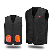 5-Areas Heating Electric Heating Vest for Autumn and Winter USB Powered Intelligent Thermal Insulation Velvet Jacket for Outdoor Skiing Winter Sports
