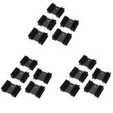 15Pcs 34 * 12 * 25 Pflaumenblütenkühler Kühlkörper für TO-220 Paket Dedicated YV25