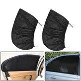 2 Adet Siyah Araba Arka Pencere Güneş Gölge Perde Kapak UV Koruyucu Kalkan Güneşlik Net 115X50 cm