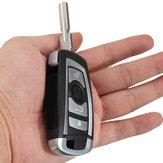 4 Botões 433MHZ chave modificada Floding remoto sem chip de 7935AA ID44 para BMW
