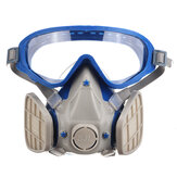 Face Protective Cover Anti Splash Particulate Mask Anti-dust Dustproof Goggles Chemical Respirator & Goggles Face Respirator Pesticide Dustproof Fire Escape Breathing Apparatus