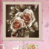 DIY 5D Diamond Painting Kit Retro Flower Handmade Craft Cross Stitch Embroidery Home Office Wall Decorations
