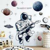 Ruimte Thema Astronaut Muursticker Slaapzaal Woonkamer Muurdecor Zelfklevende Slaapkamer 3d Kinderkamerdecoratie Huisdecoratie