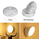 Вращение на 360 градусов LED Motion Датчик Night Light USB аккумуляторная Лампа с магнитным основанием для лестницы Спальня Ванная комната Кухонный ко